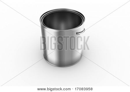 3d rendering of an empty paint can