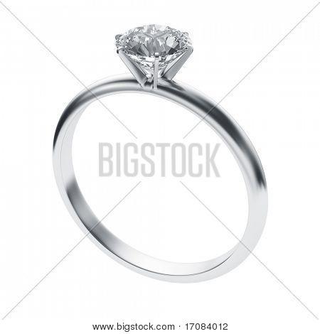 3D-weergave van een diamond ring