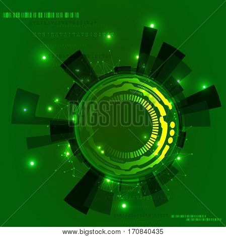 Abstract Technology Background. Hi-tech digital technology concept green colored. Background. Used as background for display your products - vector Eps10 illustration.