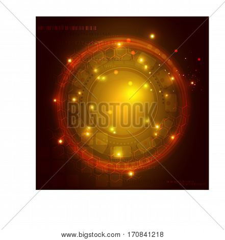 Colorful techno vector background. Digital flow, abstract technology concept - vector Eps10 illustration.