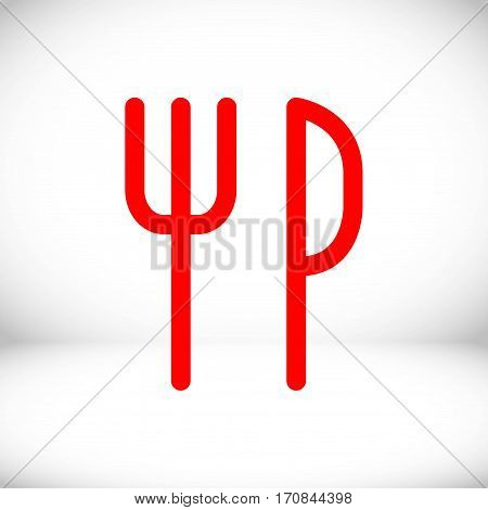 fork and knife icon stock vector illustration flat design