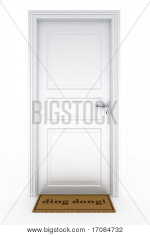3d rendering of a door with a
