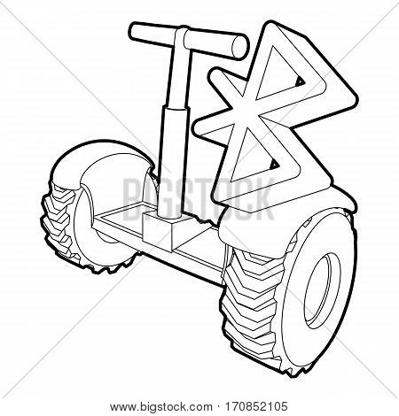 Segway connection icon. Outline illustration of segway connection vector icon for web