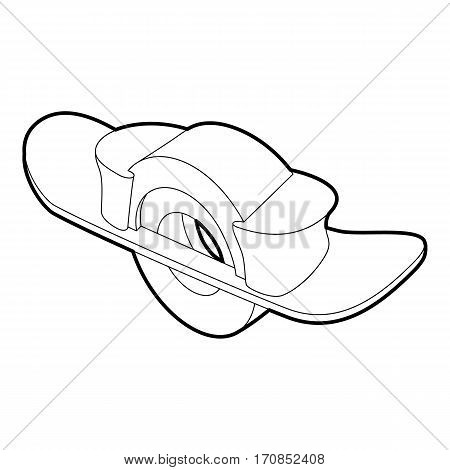 Blocked wheel icon. Outline illustration of blocked wheel vector icon for web
