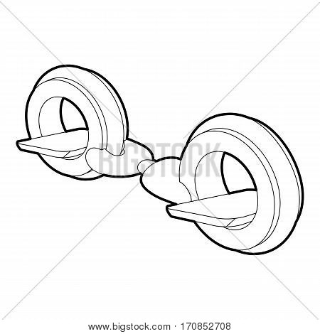Little segway icon. Outline illustration of little segway vector icon for web