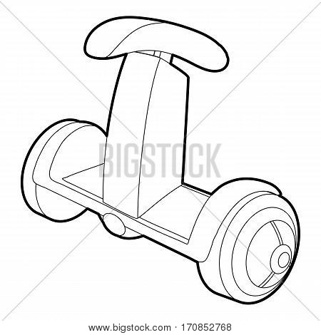 Ecology segway icon. Outline illustration of ecology segway vector icon for web