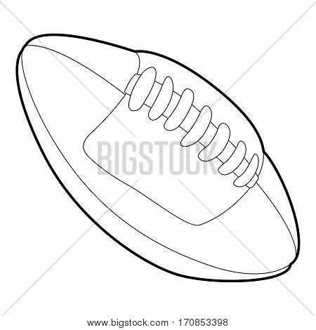 Rugby ball icon. Outline illustration of rugby ball vector icon for web