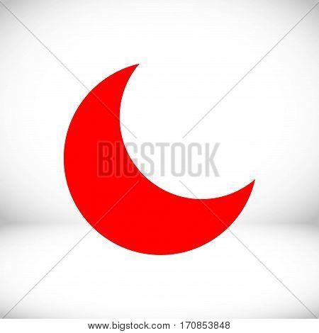 moon icon stock vector illustration flat design