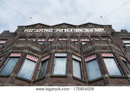 ROTTERDAM NETHERLANDS - MAY 14 2016: Former head office of the Holland America Line nowadays the residence of Hotel New York