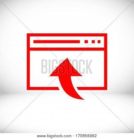 web page icon stock vector illustration flat design