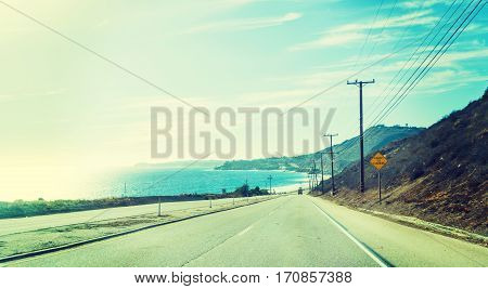 Malibu shoreline on a clear day California