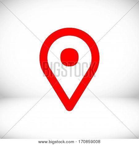 map pointer icon stock vector illustration flat design