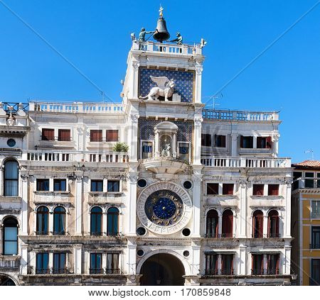 St Mark's Clocktower Torre dell'Orologio in Piazza San Marco in Venice Italy