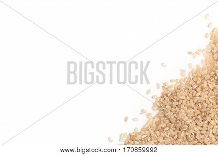 Cateto Whole grain Rice Frame isolated on white background