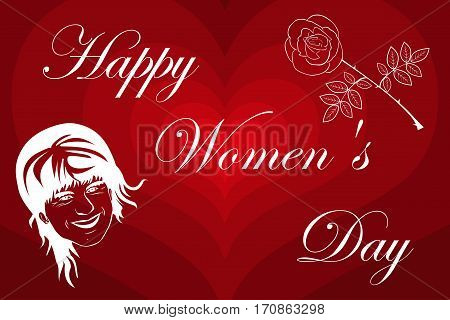 Woman and flower , 8 March International Women's Day