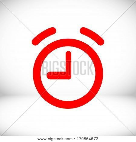 alarm clock icon stock vector illustration flat design