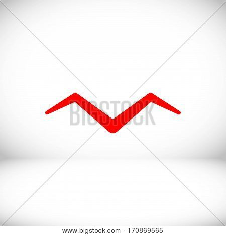 Seagull icon stock vector illustration flat design