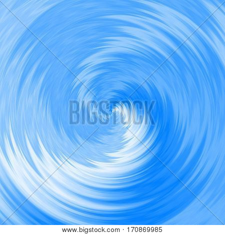Illustration of blue water whirlpool tornado swirl vortex or just light blue - white spiral for your graphic