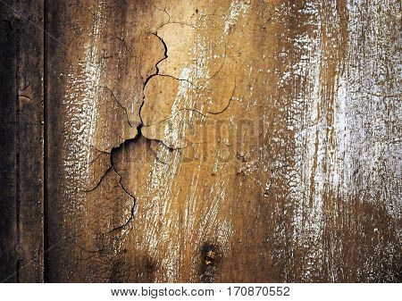 abstract background or texture rift the old ocher coat