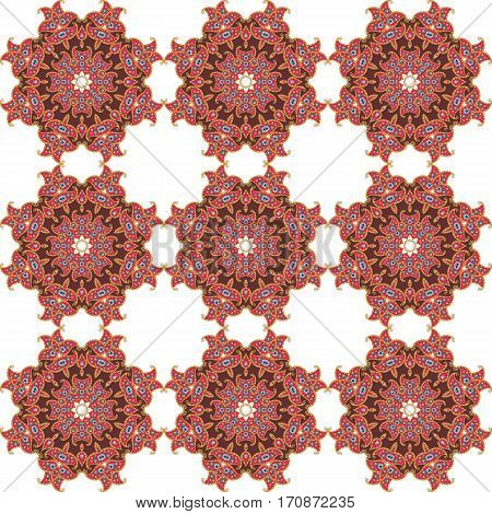 Beautiful endless ethnic pattern. Print for fabric.