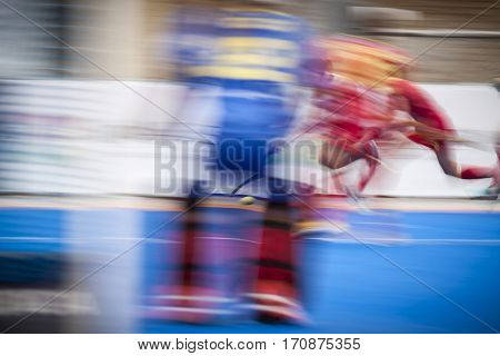 VALENCIA, SPAIN - FEBRUARY 11: Players during Hockey World League Round 2 semifinal match between Spain and Scotland at Betero Stadium on February 11, 2017 in Valencia, Spain