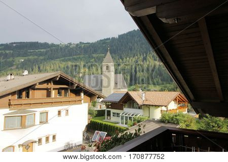 Typical architecture of the town of Vipiteno in south Tyrol in Italy