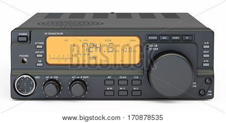 amateur radio transceiver 3D rendering isolated on white background
