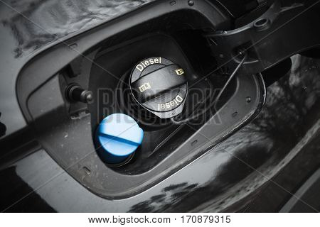Modern Car Details, Closed Fuel Cap