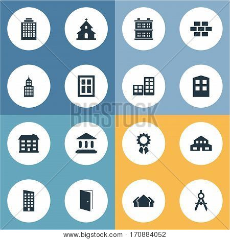 Set Of 16 Simple Construction Icons. Can Be Found Such Elements As Engineer Tool, Stone, Popish And Other.