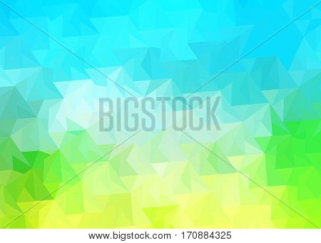 triangles background with gradient shades turquoise blue, green, gray and white