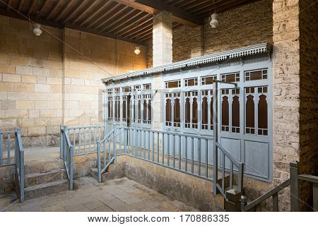 Changing rooms at historical traditional bathhouse (Hamam Inal) Medieval Cairo Egypt