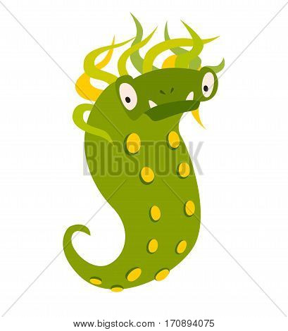 Monster vector. Kids cartoon toy colorful cute character. Vivid fabulous incredible creatures. Happy cheerful creature monster. Isolated on white background