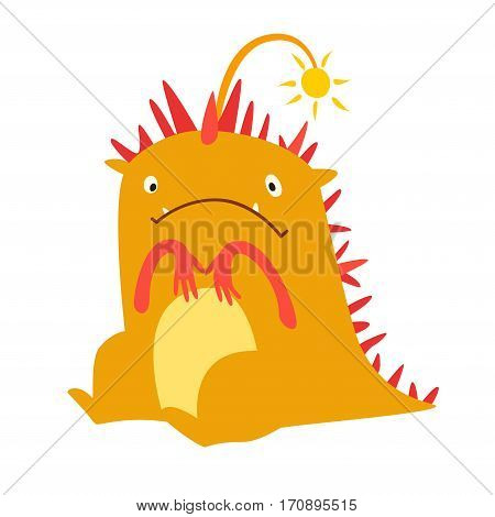 Monster vector. Kids cartoon toy colorful cute dinosaur character. Vivid fabulous incredible creatures. Happy cheerful creature monster. Isolated Dragon on white background