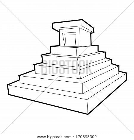 Eastern castle icon. Outline illustration of eastern castle vector icon for web