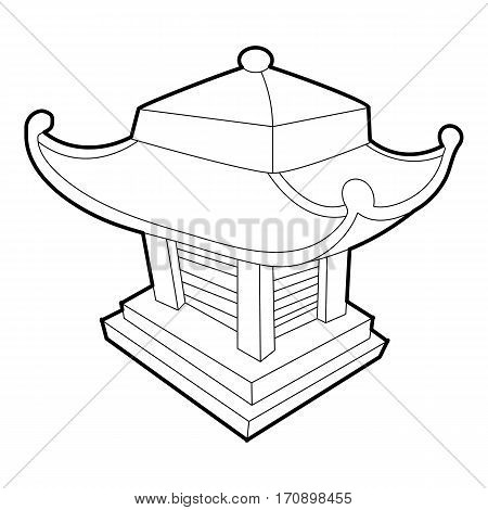 Asian pagoda icon. Outline illustration of asian pagoda vector icon for web