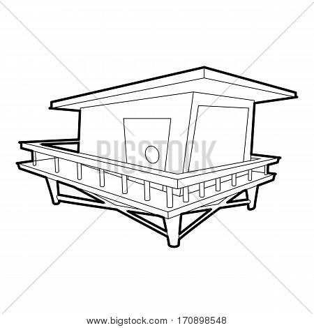 Stilt house icon. Outline illustration of stilt house vector icon for web