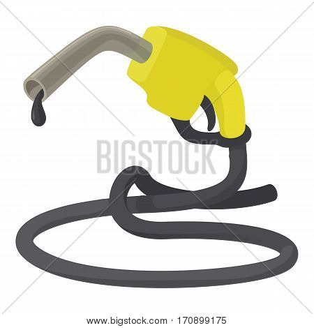 Refueling nozzle icon. Cartoon illustration of refueling nozzle vector icon for web
