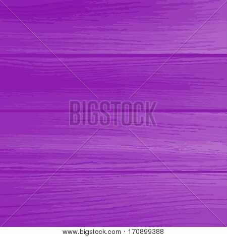 Vector background bright purple wooden wall. Easy to edit vector wood texture backdrop. Old painted wood wall. Wooden planks texture for your design. Shabby chic background.