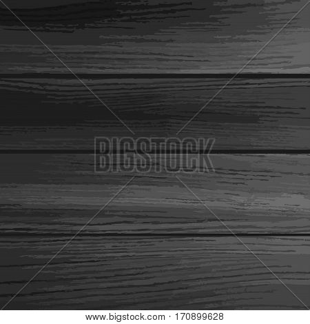 Black wood texture background. Realistic planks. Wood background. Used as background for display your products -Vector illustration.