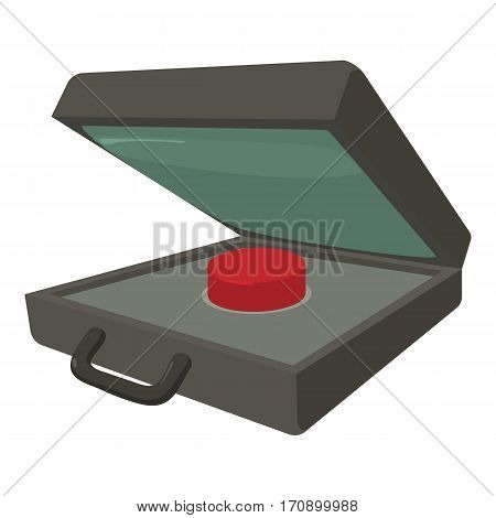 Alarm button icon. Cartoon illustration of alarm button vector icon for web