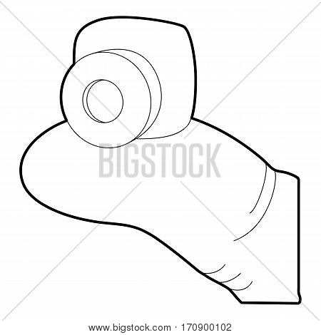 Mini camera icon. Outline illustration of mini camera vector icon for web