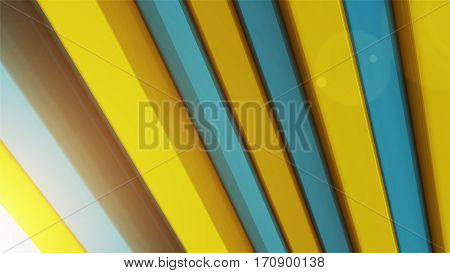Abstract Background With 3D Color Bars.