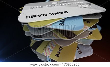 A Stack Of Plastic Cards