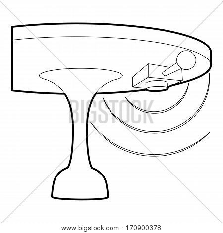 Listening device icon. Outline illustration of listening device vector icon for web