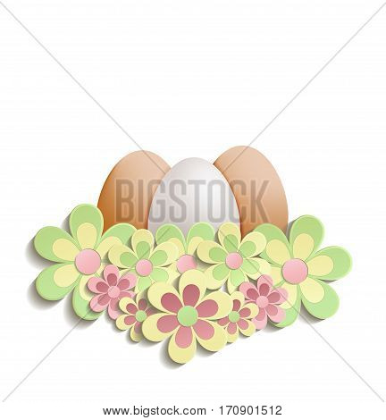 Easter Egg flowers raster Happy easter bloom