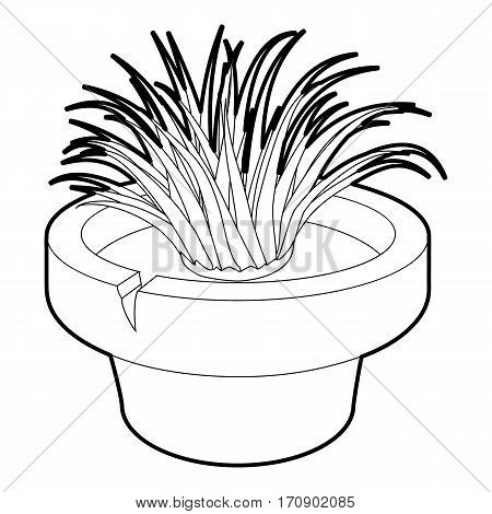 Home plant icon. Outline illustration of home plant vector icon for web