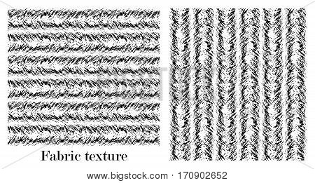 The texture is twisted in different directions in soft wool. Seamless black and white pattern of the carpet.