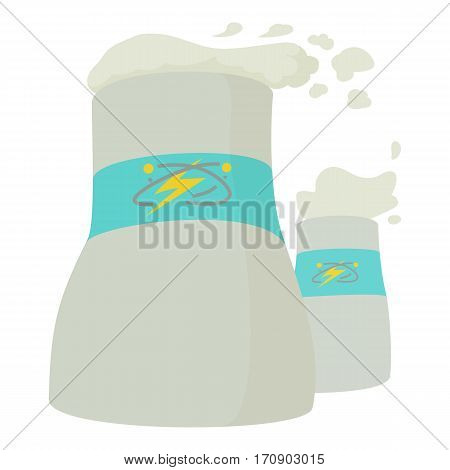Cooling tower icon. Cartoon illustration of cooling tower vector icon for web