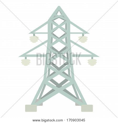 Electric pole icon. Cartoon illustration of electric pole vector icon for web