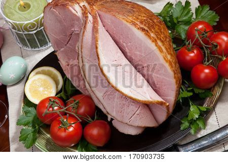 Baked Easter Ham With Vegetables